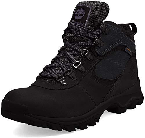 Timberland Men's Anti-Fatigue Hiking Waterproof Leather Mt. Maddsen Sneaker, Black, 11