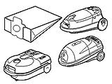 Bolsas Aspiradora Para Panasonic Cilindro Aspiradoras Pack de 5
