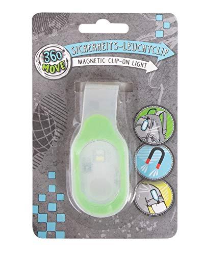 Trendhaus 360° Move 601377 - LED Sicherheitslicht inklusive Batterien, Leuchtclip magnetisch, Lichtclip für Straßenverkehr, Leuchtanhänger, für Schulkinder, Jogger, Radfahrer, Grün