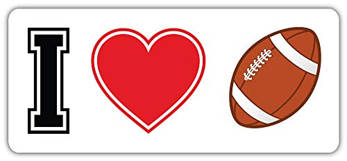 I Love American Football Sport Bumper Sticker Vinyl Art Decal for Car Truck Van Window Bike Laptop