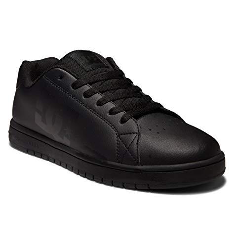 DC Shoes Gaveler-Leather Shoes, Scarpe da Ginnastica Uomo, Nero, 48 EU
