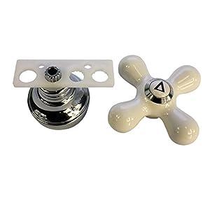 Danco Cross-Arm Faucet Handle, Porcelain/Chrome, 46004