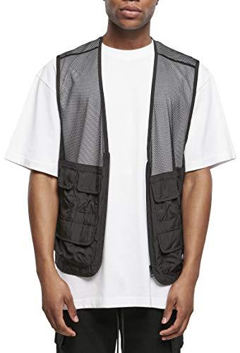 Urban Classics Light Pocket Vest Chaqueta, negro, XL para Hombre