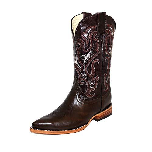 Mexikanische Stiefel Cowboy Modell Fausto, Braun - dark chocolate - Größe: 43 EU