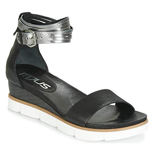 Mjus Tapasita Sandalen/Sandaletten Damen Schwarz/Silbern - 40 - Sandalen/Sandaletten Shoes