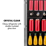 Klarstein Beersafe - Getränke-Kühlschrank mit Edelstahl-Front, Glastür, Mini-Kühlschrank, Energieeffizienzklasse:, 0 bis 10 °C, wechselbarer Türanschlag, 98 L, schwarz-silber - 9
