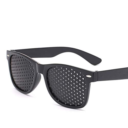 YIERJIU Sonnenbrillen Klassische Loch Sonnenbrille Männer Korrigiert Vision Sonnenbrille Frauen/Männer Retro Outdoor Oculos De Sol,Black