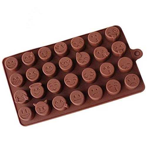 Baking Moule En Silicone Emoji Chocolat Moule En Silicone Pour Gâteau Biscuits Moule Accessoires de Cuisson Fondant Bonbons Silicone Diy Silicone Cutters Gâteau Toolsoffee Cuisine Fournitures