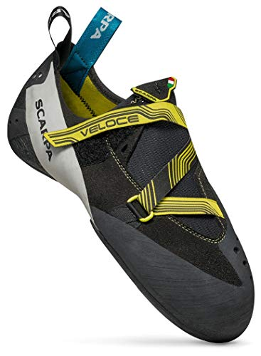SCARPA Veloce Climbing Shoe - Men's Black/Yellow 9.5-10 US/43 EU