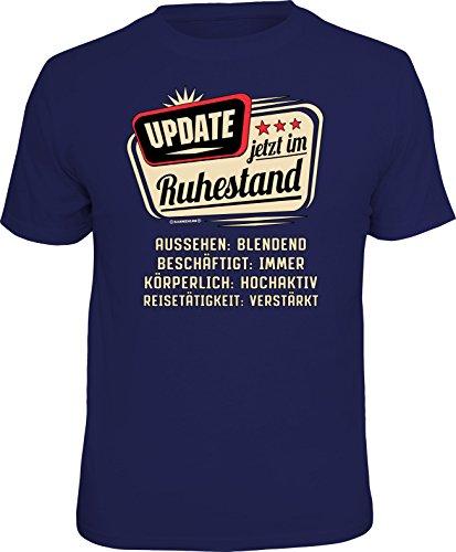 RAHMENLOS Original T-Shirt für den aktiven Rentner: Update, jetzt im Ruhestand… XL, Nr.6220