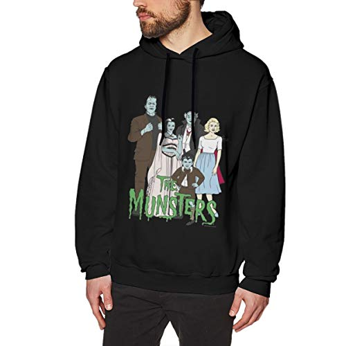 GRACE WALTERS The Munsters Hoodie, Sweater Sweatshirts Cotton Man's Hooded Sweatshirt Sweater Pullover Comfortable Fabric Easy to Wear Fashion Suitable of Durable Black