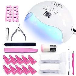 LKE Nageltrockner 40W LED/UV lampe für gelnägel set 30/60/99s Timer,LCD Display, Professionelle Nagellampe Anfänger Set