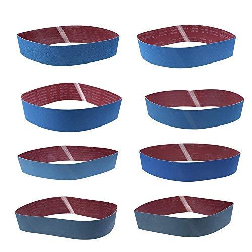 8 Stück Schleifbänder Bandschleifer Schleifband, WCIC Aluminiumoxid Scharniere Körnung P80 P120 P150 P180 P240 P320 P800 P1000 100X915mm