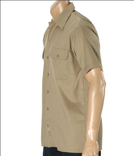 manga de de trabajo color Dickies corta Camisa caqui de qFwOAtxxg