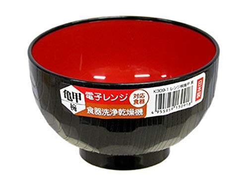 JapanBargain 2046 - Ciotola in plastica giapponese per riso, noodle poke, cereali, miso, adatta al microonde e lavabile in lavastoviglie, 11 oz