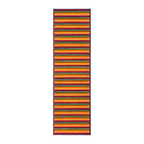 Alfombra pasillera Pop Naranja de bambú para Pasillo de 60 x 200...