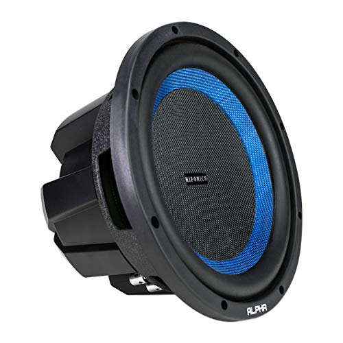 Hifonics Alpha HAW10D4 –10 Inch Subwoofer, Dvc Car Audio, 1000 Watt, Dual 4 Ohm, 2 Inch Voice Coils with A Woven Glass Cone, Light Weight Sub