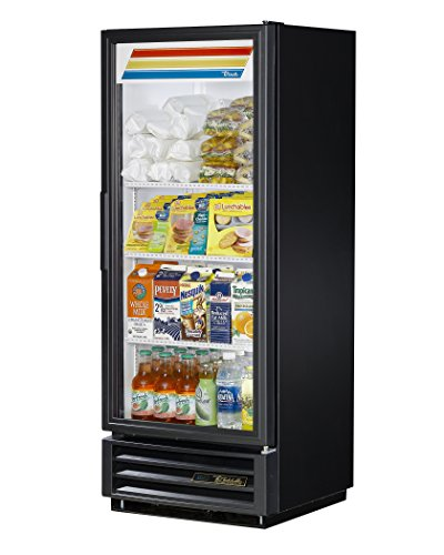"True GDM-12-HC-LD Single Swing Glass Door Merchandiser Refrigerator with Hydrocarbon Refrigerant and LED Lighting, Holds 33 Degree F to 38 Degree F, 62.375"" Height, 23.125"" Width, 24.875"" Length"