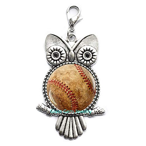 Baseball-Lammerverschluss, Baseball-Eule, Reißverschluss, Baseball-Schmuck, Baseball-Spieler, Baseball-Fan, Geschenk, Q0100