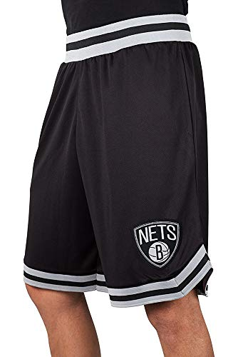 Ultra Game NBA Brooklyn Nets Mens Woven Basketball Shorts, Team Color, Small