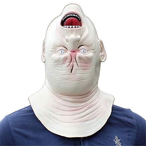 QWEEF Mscara de Halloween Halloween Horror Latex Head Mask Mascarada Party Funny Bujes for Adultos Accesorio de Cosplay de Halloween (Color : Photo Color, Tamao : M)