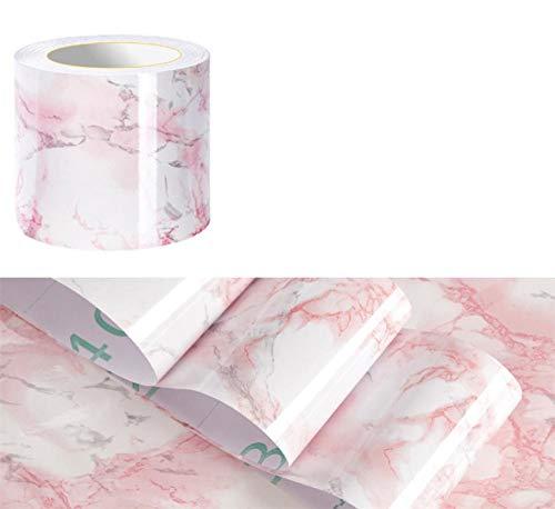 Papel pintado Borders Adhesivo Ágata Rosa para Baños Salón Cocina Espesar Vinilo Impermeable Revestimiento de Pared Borders Decoración del Hogar Azulejos 20X1000CM