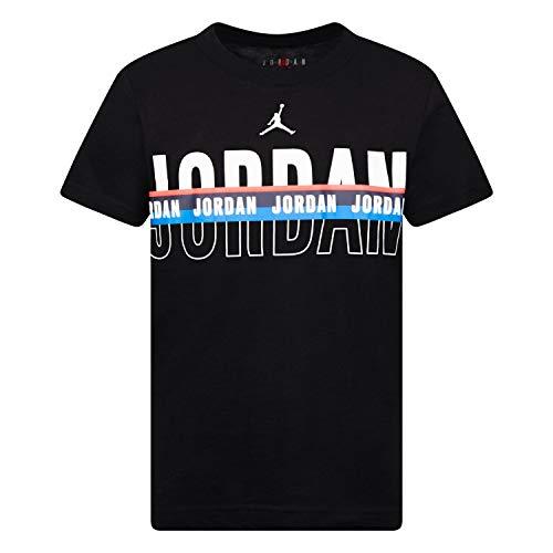 Nike Air Jordan - Camiseta para niño grande, L, Negro