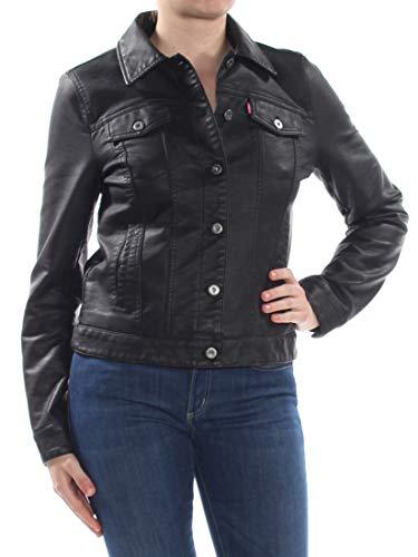 Levi's Women's Classic Faux Leather Trucker's Jacket, Black, X-Small