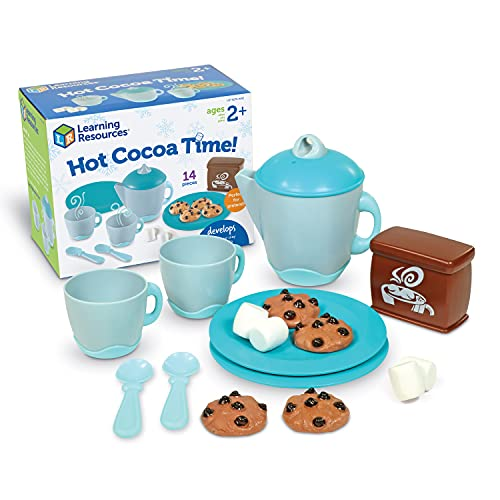 Learning Resources Hot Cocoa Time!, Pretend Play Toys, Develops Imaginative Play and Social Skills, Holiday Toys for Toddlers, Food Play Set, Ages 2+