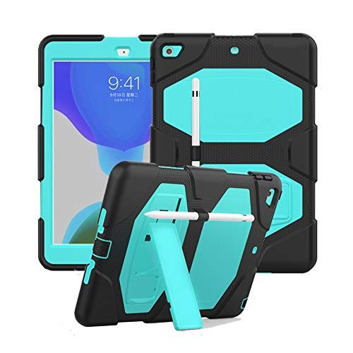 FSCOVER Funda para iPad 10,2 Pulgadas (iPad 8ª/7ª Generación, 2020/2019), Durable de PC + Silicona Flexible Triple Capa a Prueba de Golpes Carcasa Cover con Soporte para iPad 10.2