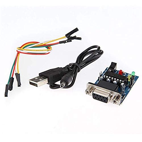 L-YINGZON 2Pcs With Cables Built-in MAX232CPE Chip RS232 TTL Converter Module Connector