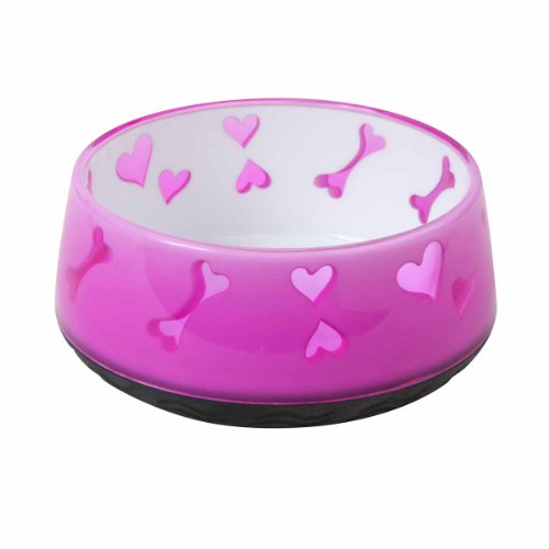 Dogit Dog Food and Water Bowl, BPA-Free Dog Dish, Non-Skid Dog Bowl, Pink, 90411