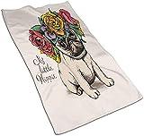 Asciugamani, scarpe con tacco alto, rossetto e la parola di bellezza, con stampa a motivo morbido, altamente assorbente, per bagno, hotel, palestra e spa colore 9-69,8 x 39,9 cm