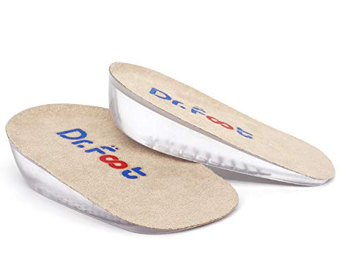 """Dr. Foot's Height Increase Insoles, Heel Cushion Inserts, Heel Lift Inserts for Leg Length Discrepancies (Small (1"""" Height))"""