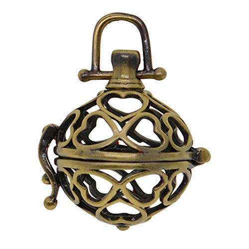 kowaku 1 Pieza Colgante de Difusor de Aceite Colgante de Jaula de Cuentas de Medallón Hueco de Bronce Antiguo -