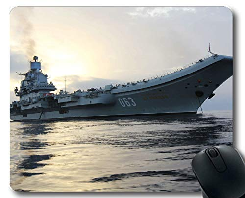 Yanteng Mouse Pads,Aircraft Carrier Russian Aircraft Carrier Admiral Kuznetsov Warship Gaming mousemats Multi YT44