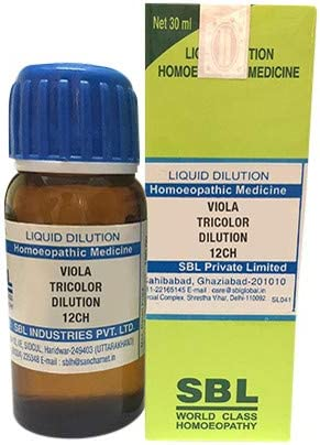 SBL Viola Tricolor Dilution 12 CH 30 P ml Pallas USA High order Ranking TOP18 Free Rose