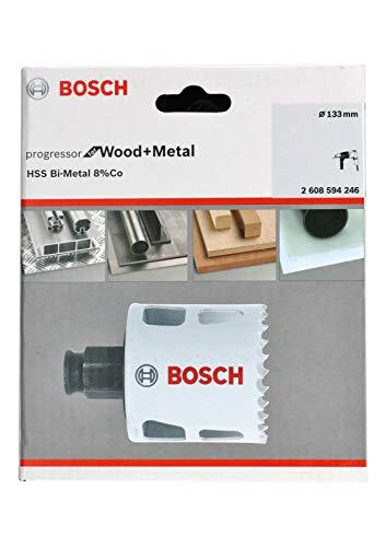 Bosch Professional Lochsäge Progressor for Wood & Metal (Holz und Metall, Ø 133 mm, Zubehör Bohrmaschine)