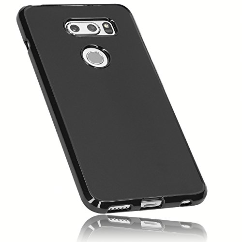 mumbi Hülle kompatibel mit LG V30 ThinQ Handy Hülle Handyhülle, schwarz