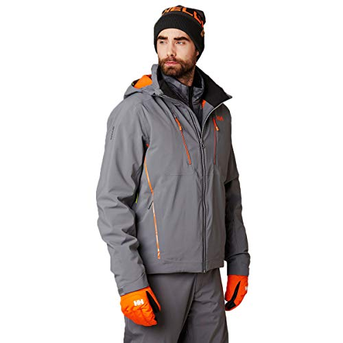 Helly-Hansen Men's Alpha 3.0 Waterproof Insulated Ski Jacket, 971 Quiet Shade, Large