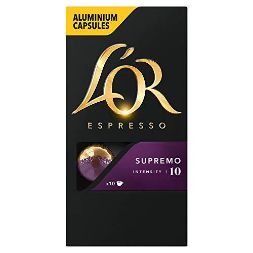 L'OR Espresso Supremo - Intensity 10 - Nespresso Compatible Coffee Capsules (Pack of 10, 100 Capsules in Total)