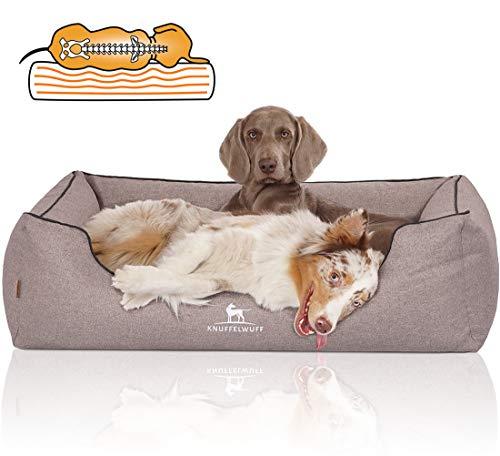 Knuffelwuff Orthopädisches Hundebett Wippo Hundekorb Hundesofa Hundekissen Hundekörbchen waschbar Grau XL 105 x 75cm