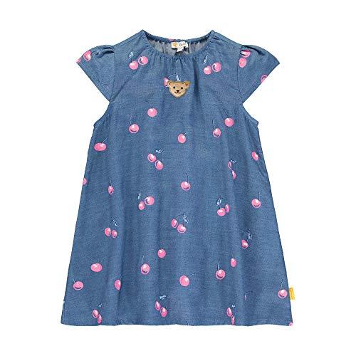 Steiff Mädchen Kleid, Blau (Colony Blue 6052), (Herstellergröße: 104)