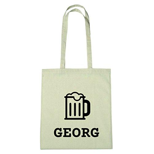 JOllify Baumwolltasche - Happy Birthday für GEORG - Bier Gruß