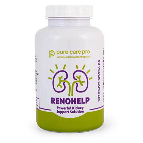 Renohelp Optimal Kidney Health Supplement, Naturally Support Kidney Function, Creatinine Levels, and Glomerular Filtration, All-Natural Product 90 Vegetarian Capsules