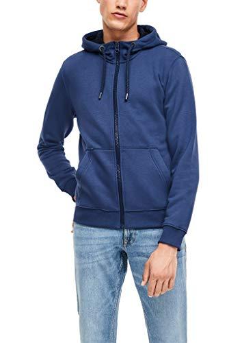 s.Oliver Herren Zip-Hoodie mit Durchzugkordel Blue L