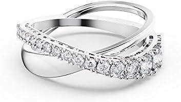 Swarovski Ringa Ring, Vit, Rodiumpläterad