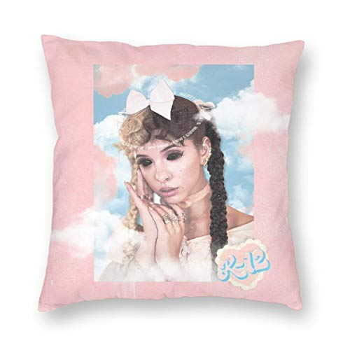 Melanie Mar_tinez K-12 Powder Square Throw Pillow Cover with Hidden Zipper for Sofa Couch Office Bed,Double-Sided Print Polyester Pillowcase Pillowcover Cushion Covers for Home Decor Decoration