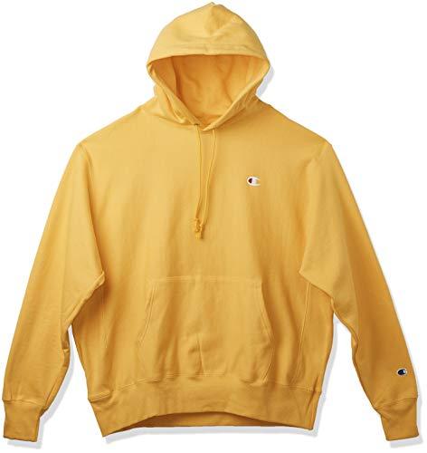 Champion LIFE Men's Reverse Weave Pullover Hoodie, C Gold/Left Chest C Logo, X Large
