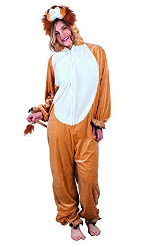 Boland- Costume survêtement en peluche Lion, Mixte Adulte, 10103407, Marron, max 1,95 m